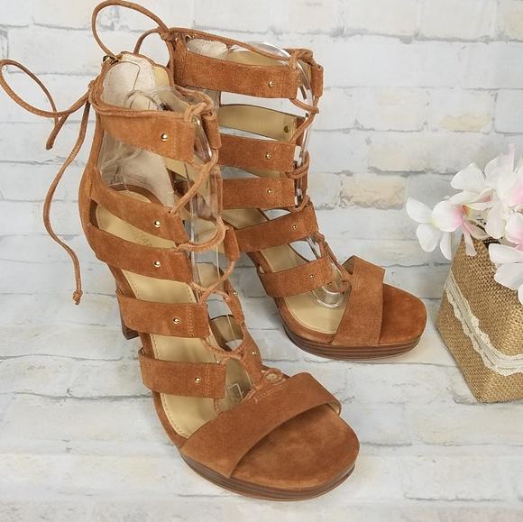 a4ee5037b1f1 Michael Kors Gladiator Style Lace Up Heels. M 5c5b62239539f72fb9b18db2